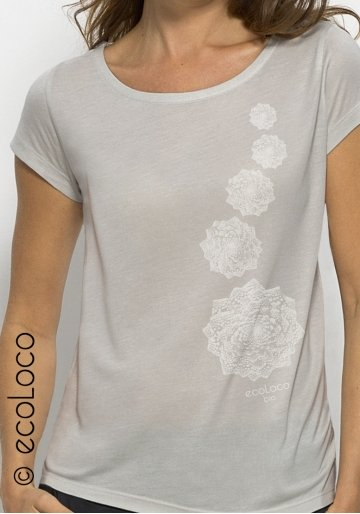 T-shirt bio modal CHOU imprimé en France artisan mode éthique équitable vegan