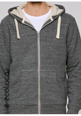Bio Sweatshirt Kapuzenpulli mit Reißverschluss vegane Kleidung sportwear