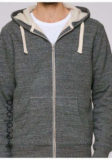 Veste sherpa bio mode éthique équitable sportwear consommation responsable Homme