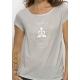 Bio-T-Shirt Modal MEDITATION Legalize Serenity vegane Kleidung ethische Mode Frau gedruckt in Frankreich Handwerker