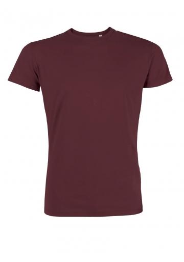t shirt bio basique intemporel mode éthique vegan bordeau