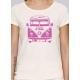 Bio-T-Shirt GLÜCKLICHE NÜCHTERNHEIT vegane Kleidung nachhaltige Mode gedruckt in Frankreich Handwerker