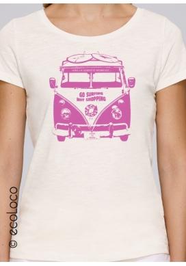 T-shirt bio SOBRIETE HEUREUSE imprimé en France artisan mode éthique équitable vegan