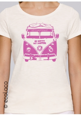 organic tee shirt HAPPY SOBRIETY fairwear craftman France vegan clothing ecofriendly ecowear - Ecoloco