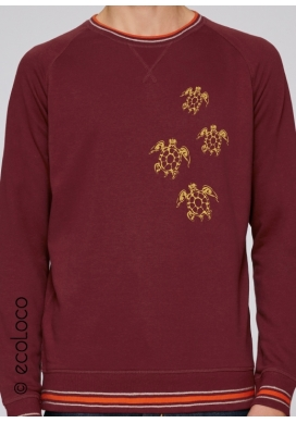 Sweat shirt pull bio basique vetement yoga vegan