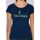 T-shirt bio LIVE SIMPLY imprimé en France artisan mode éthique équitable vegan
