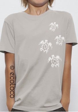 organic t shirt Turtles tribalTatoo