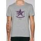 Bio-T-Shirt VELORUTION gedruckt in Frankreich Handwerker für den umweltfreundlichen Verkehr Fahrrad vegane Bekleidung