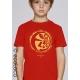 Bio-T-Shirt ORGANISCHER PLANET vegane Kinderbekleidung nachhaltige Mode fairwear gedruckt in Frankreich Handwerker