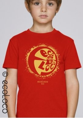 organic children tee shirt ORGANIC PLANET fairwear craftman France vegan ecowear - Ecoloco