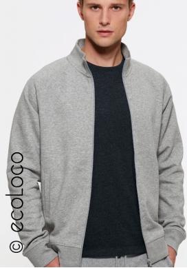 Sweat shirt bio sportwear zippé mode éthique équitable vegan - Ecoloco