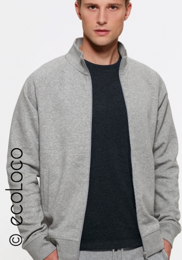 Sweat shirt bio sportwear zippé mode éthique équitable vegan