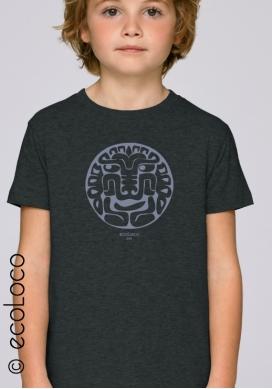 T shirt bio FELIN AMERINDIEN imprimé en France artisan mode éthique équitable vegan fairwear enfant - Ecoloco