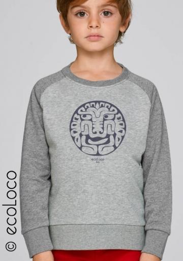 Bio-T-Shirt AMERINDIANISCHER KATZEN vegane Kinderbekleidung nachhaltige Mode fairwear gedruckt in Frankreich Handwerker