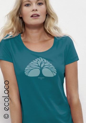 T-shirt bio RESPIRE imprimé en France artisan mode éthique fairwear vegan