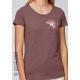 Bio-T-Shirt GINGKO BILOBA vegane Kleidung fairwear Frau gedruckt in Frankreich Handwerker
