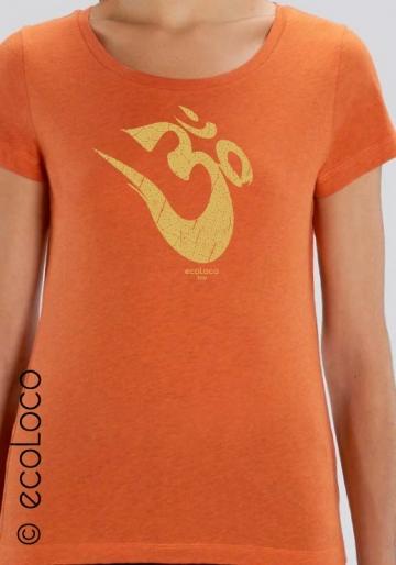 Bio-T-Shirt OM Yoga Mantra vegane Bekleidung ethische Mode Frau gedruckt in Frankreich Handwerker