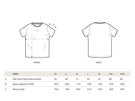 size chart short sleeve men Sweatshirt